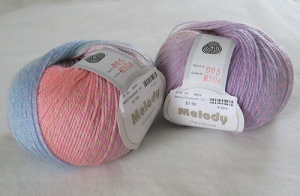 Melody Superwash yarn (2 balls)