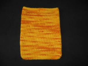 Yellow iPad sleeve