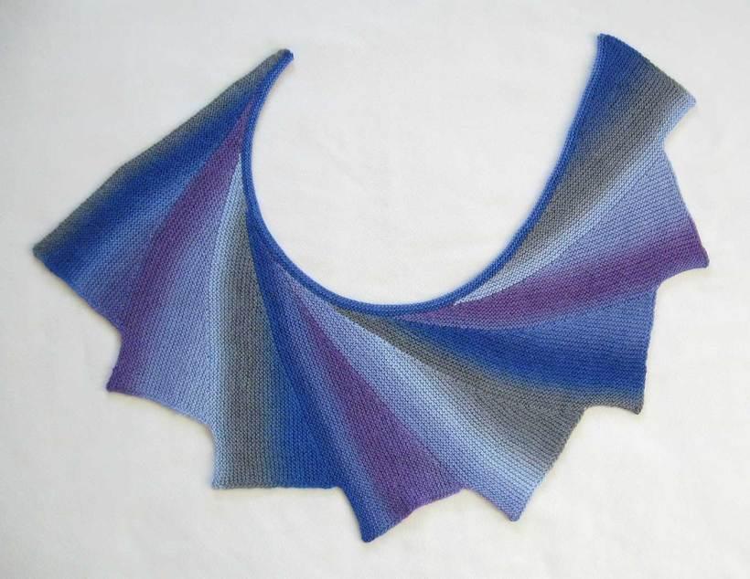 Wingspan shawl laid flat