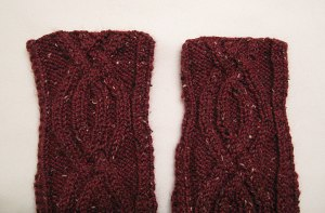 Aran Wrap Cardigan sleeve comparison