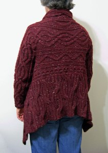 Aran Wrap Cardigan, back view