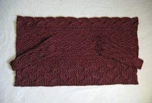 Aran Wrap Cardigan laid flat