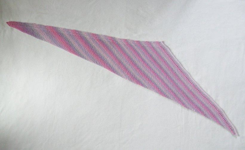 A far shot of the Trillian shawlette.