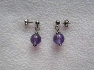 Amethyst earrings.