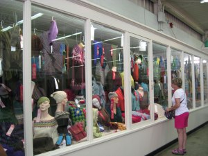 The adult knitting case at the Minnesota State Fair.