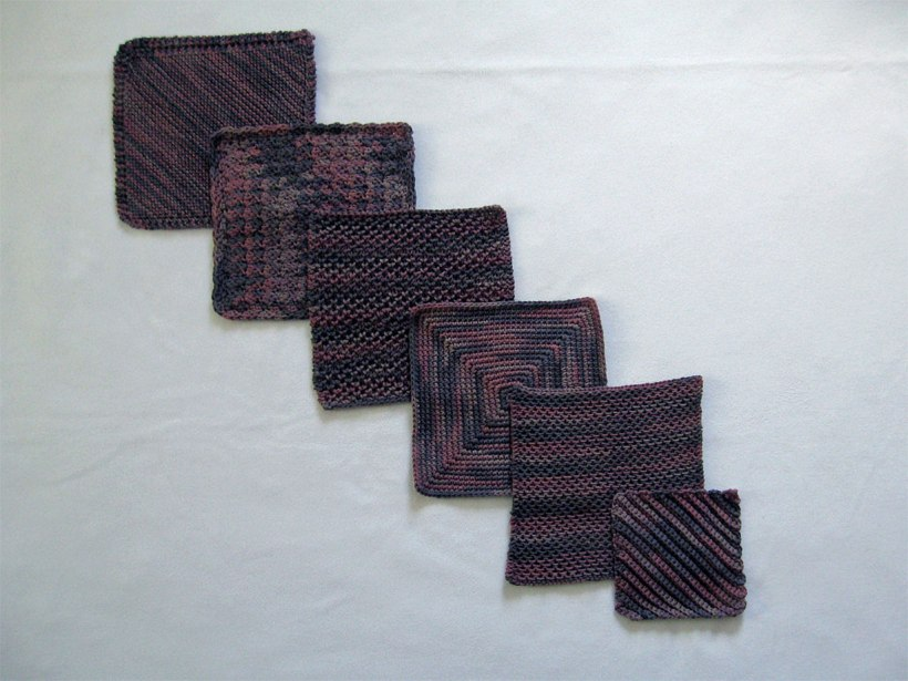Knitted and crocheted dishcloths.