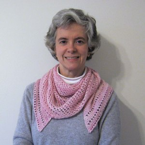 Cobblestone Shawlette being worn.
