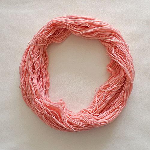 Pink yarn.