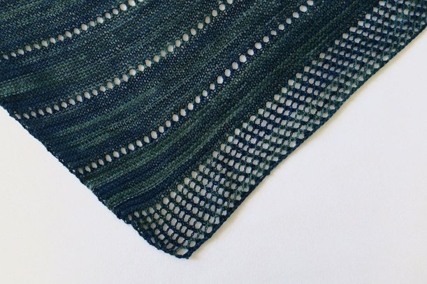 Closeup of Asterism shawlette