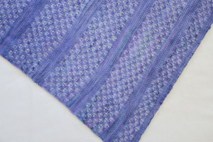 Detail of lace pattern of shawl.