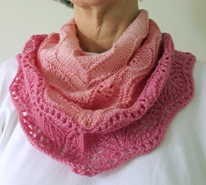 Wearing the Blushing Cowlette