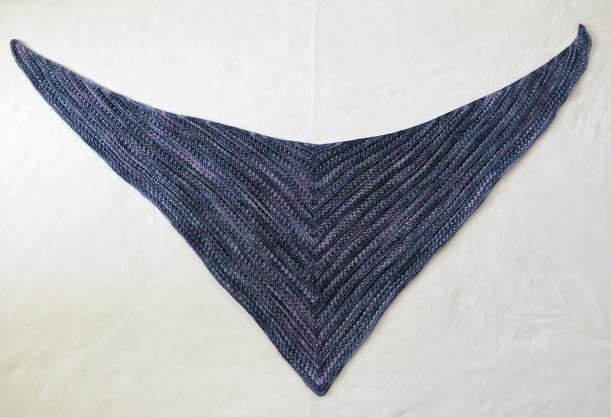 Iolite shawl lying flat.
